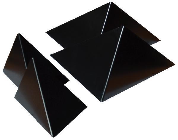 Kit 4 inserts PRISME noir ral 9005