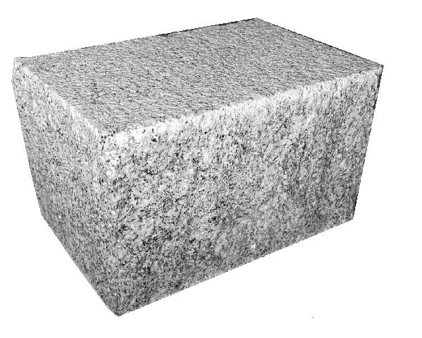 Pavé ALPENDORADA granit 2 faces sciées flammées 12x20cm Ep.12cm gris