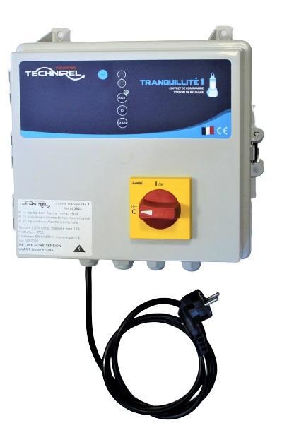 Coffret de protection et d'alarmes TRANQUILITE 1 1 pompe
