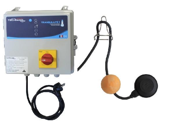 Coffret de protection et d'alarmes TRANQUILITE 1 + kit flotteur