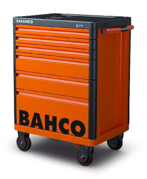 Servante 6 tiroirs STORAGE HUB métal 820X510X976mm Orange 97cm + roues