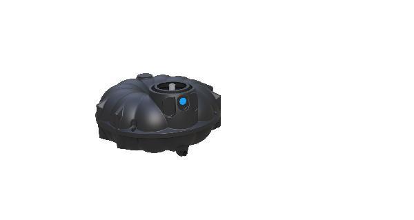 Cuve récupération eau de pluie polyéthylène REWATEC 3000L nue
