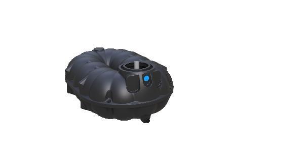 Cuve récupération eau de pluie polyéthylène REWATEC 5000L nue