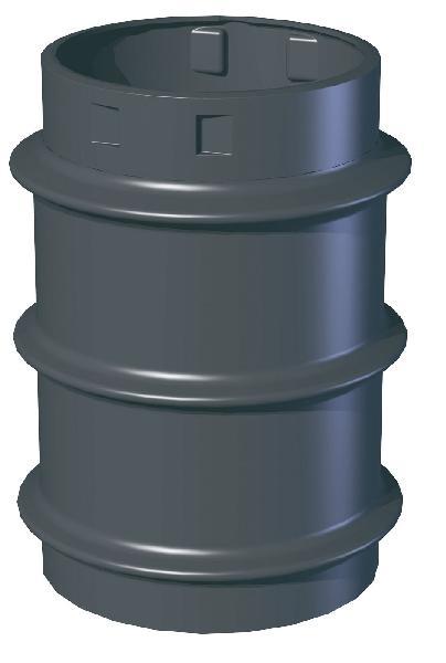 Réhausse eau de pluie Ø510cm Kit 3 Rewatec + couvercle D500