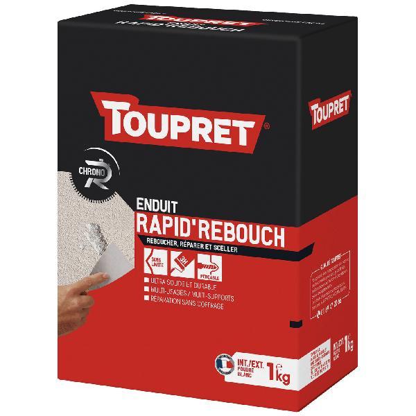Enduit de rebouchage intérieur/extérieur rapide TOUPRET poudre 1kg