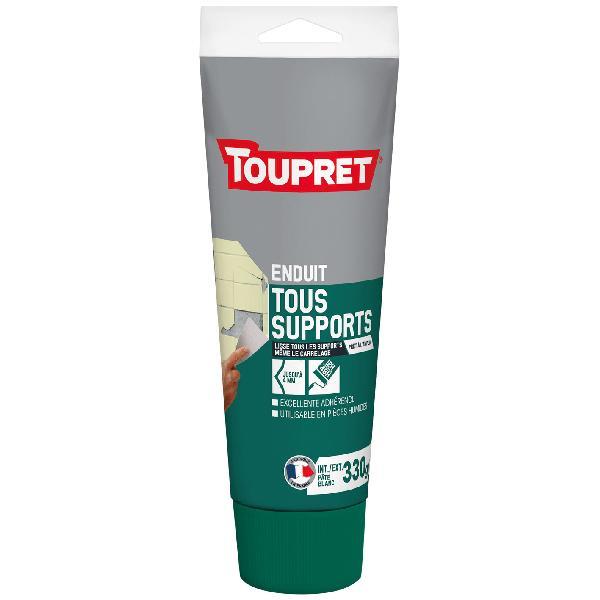 Enduit tous supports intérieur prêt à l'emploi TOUPRET pâte blanc 330g
