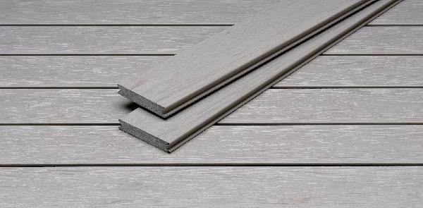 Lame terrasse PIAZZA PRO bois composite silver teak 25x140mm 4m