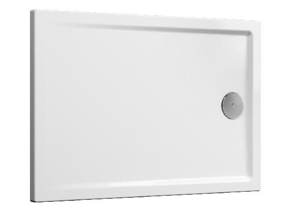Receveur CASCADE blanc antidérapant PMR céramique 100x80cm Ep40mm NF