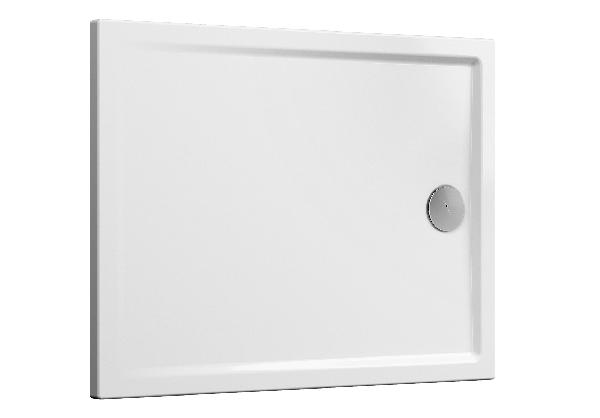Receveur CASCADE blanc antidérapant PMR céramique 120x90cm Ep40mm NF