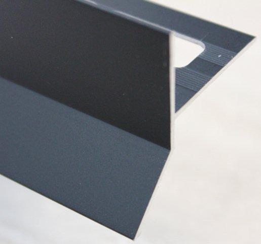 Goutte d'eau alu mat noir 250mm H.45mm Ep.21mm