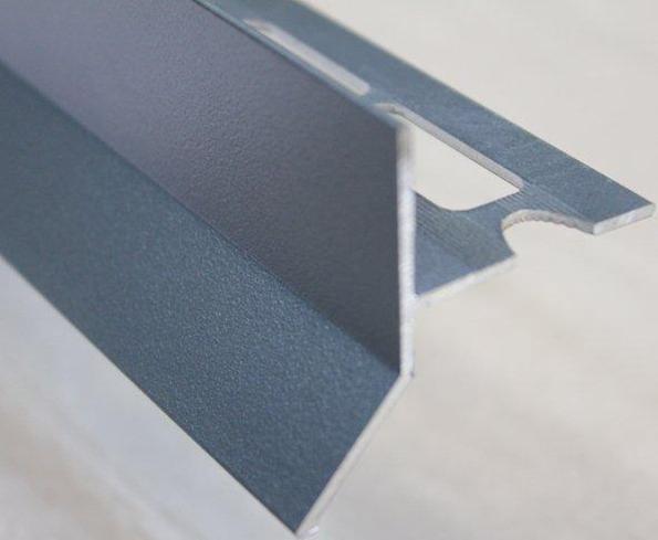 Goutte d'eau alu sablé gris anthracite (ral 7016) 250mm H.45mm Ep.21mm
