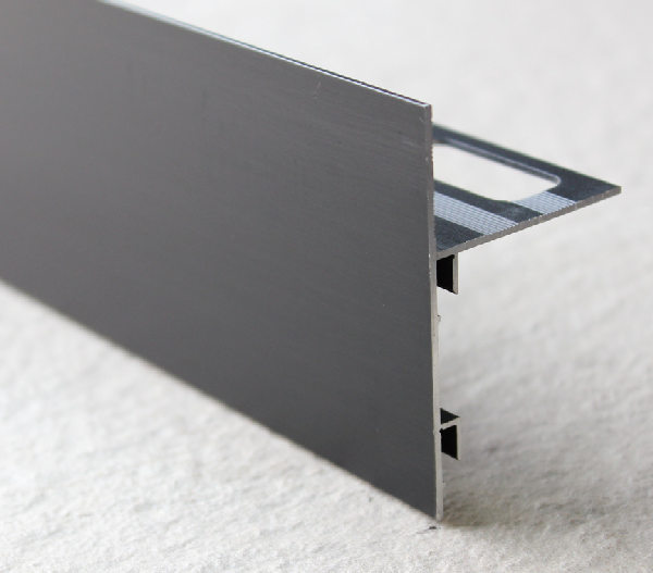 Profilé finition terrasse alu mat noir 250mm H.42mm H.42mm Ep.21mm
