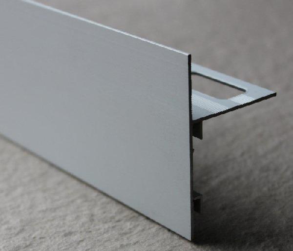 Profilé finition terrasse alu mat argent 250mm H.62mm H.62mm Ep.21mm