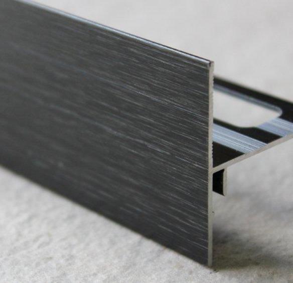 Profilé finition terrasse alu mat noir H.62mm Ep.21mm