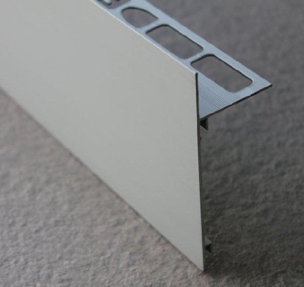 Profilé finition terrasse alu mat argent H.102mm Ep.21mm