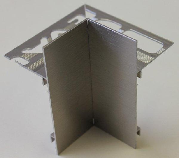 Embout interne pour profilé alu brossé titane H.62mm Ep.21mm