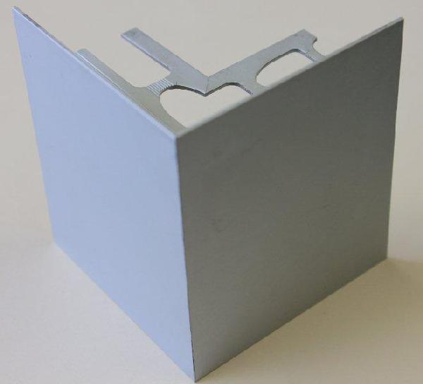 Embout externe pour profilé alu mat argent H.42mm Ep.21mm