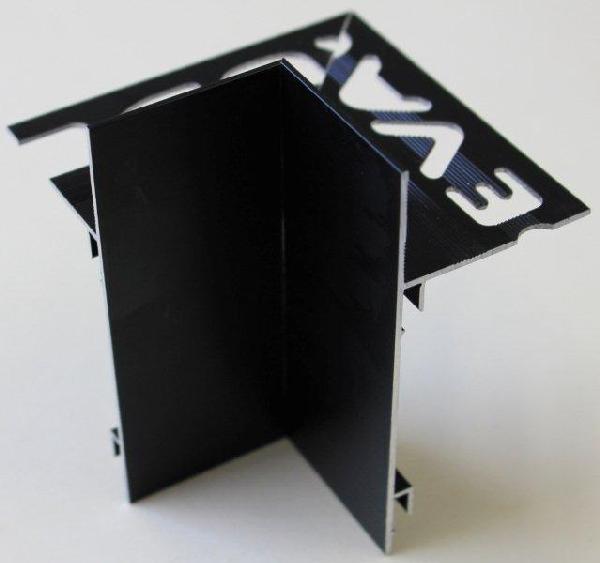 Embout interne pour profilé alu mat noir H.62mm Ep.21mm