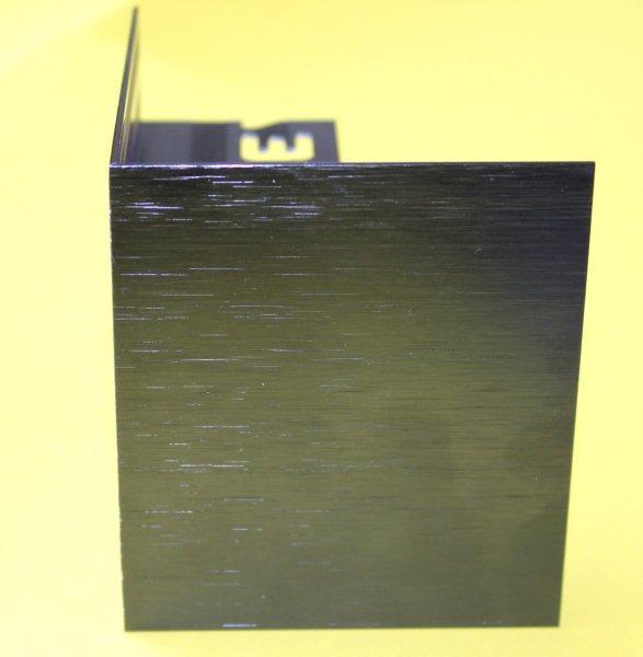 Embout externe pour profilé alu brossé noir H.62mm Ep.21mm