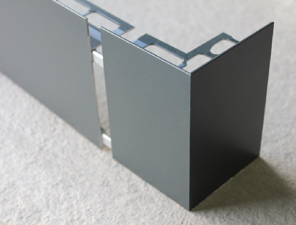Embout externe pour profilé sablé anthracite H.62mm Ep.21mm
