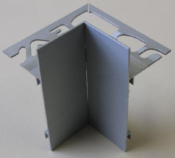 Embout interne pour profilé alu mat argent H.102mm Ep.21mm