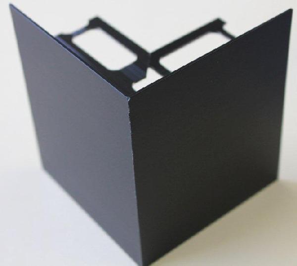 Embout externe pour profilé alu mat noir H.102mm Ep.21mm