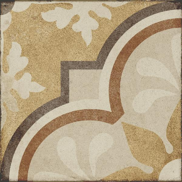 Carrelage décor OTTOCENTO tappeto 4 ambra 20x20cm Ep.10mm