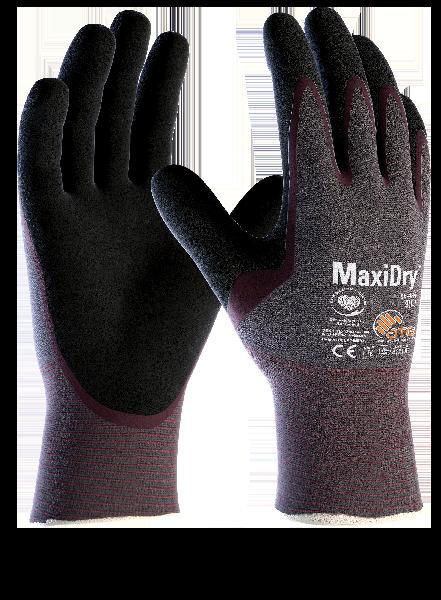 Gant nitrile MAXIDRY OIL  56 424 violet/noir T.10 sur cavalier