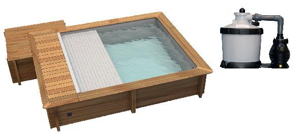 Piscine URBAINE 3,50x4,20m H.1,33m bois