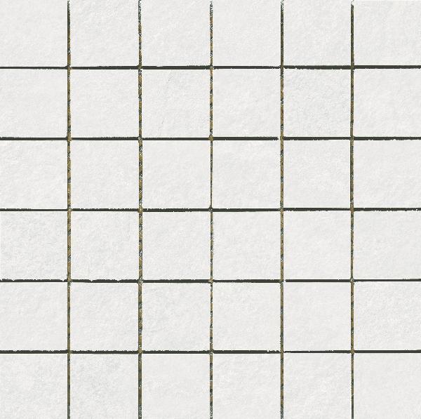 Carrelage mosaïque sur trame BASALT blanco 30x30cm