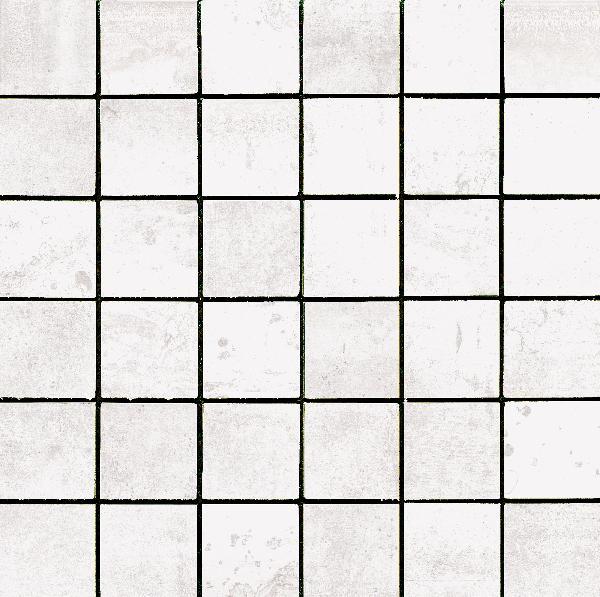 Carrelage mosaïque sur trame EXPRESSION blanco 30x30cm