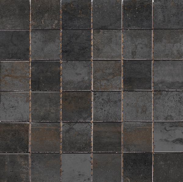 Carrelage mosaïque sur trame EXPRESSION titanio 30x30cm