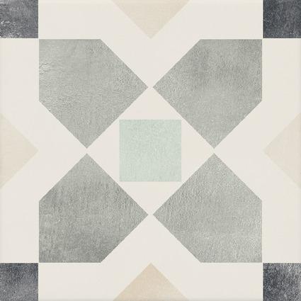 Carrelage mosaïque PATTERN melby multicolore 19,7x19,7cm Ep.6,5mm