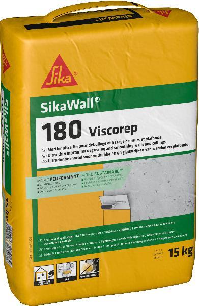 Mortier ultra fin ragréage SIKAWALL 180 VISCOREP gris clair sac 15kg