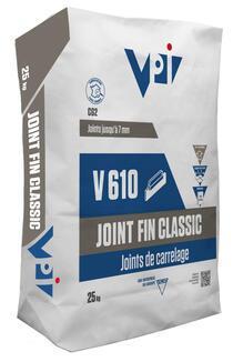Mortier joint V610 JOINT FIN CLASSIC acier sac 25kg