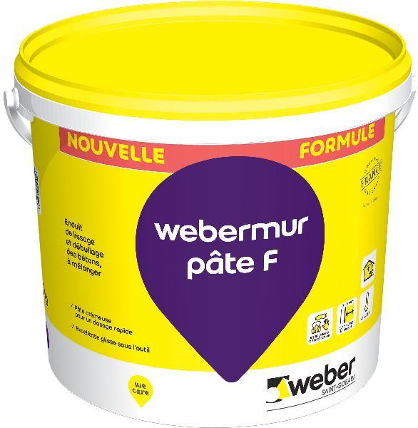 Mortier lissage WEBERMUR PATE F GRIS seau 25kg