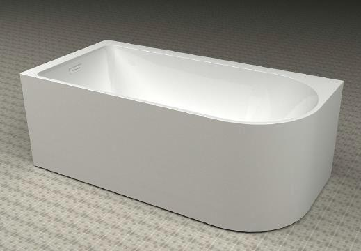 Baignoire acrylique angle gauche VIENNA blanc 172x81cm
