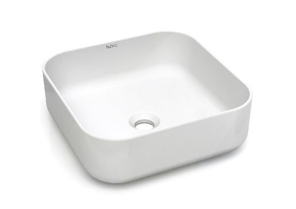 Vasque à poser MALEVITCH 38,5x38,5x13,5cm céramique blanc mat carrée