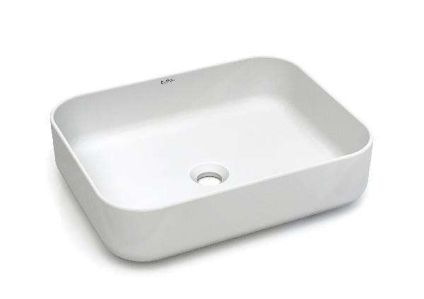 Vasque à poser MALEVITCH 50x39x13cm céramique blanc mat rectangulaire
