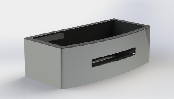Panier à fixer douche POSEIDON 24x11,5x7cm noir thermoplastique