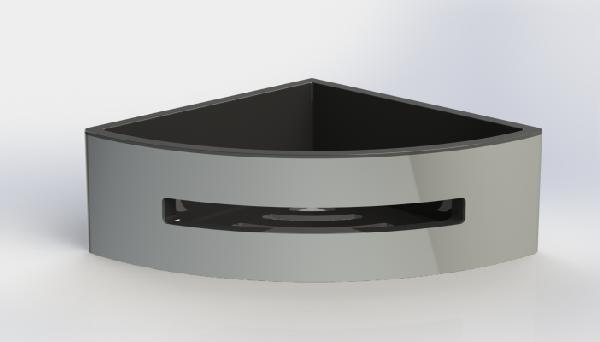 Panier à fixer douche angle POSEIDON 19x19x7cm noir thermoplastique
