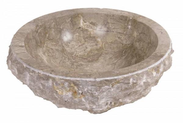 Vasque à poser marbre gris/marron