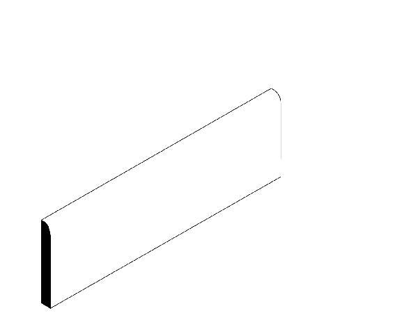 Plinthe VOGUE gris mat 7,5x41cm Ep.8,3mm