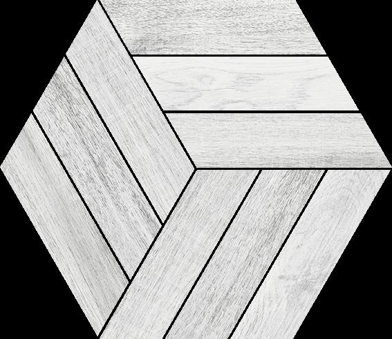 Carrelage hexagone hexagone IMAGINE SOUL coco 26x30cm Ep.11mm