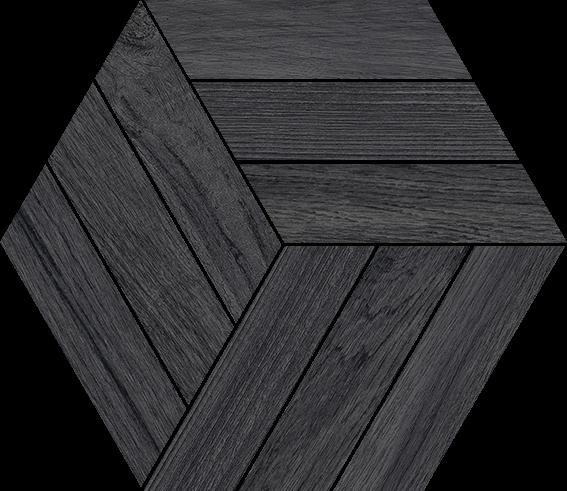 Carrelage hexagone hexagone IMAGINE SOUL müre 26x30cm Ep.11mm