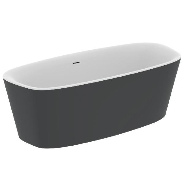 Baignoire acrylique îlot DEA blanc/noir 180x80cm