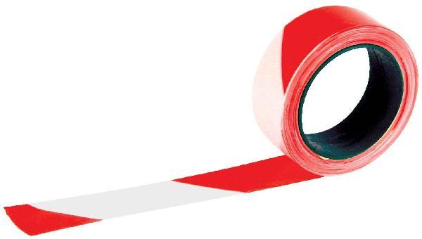 Ruban RUBAPLAST 50mmx100m rouge/blanc
