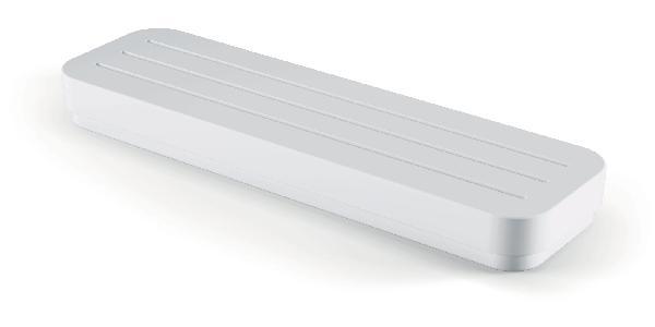 Tablette douche OPEN 29x8,5x4cm blanc