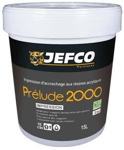 Impression d'accrochage PRELUDE 2000 résines acrylique blanc 15L