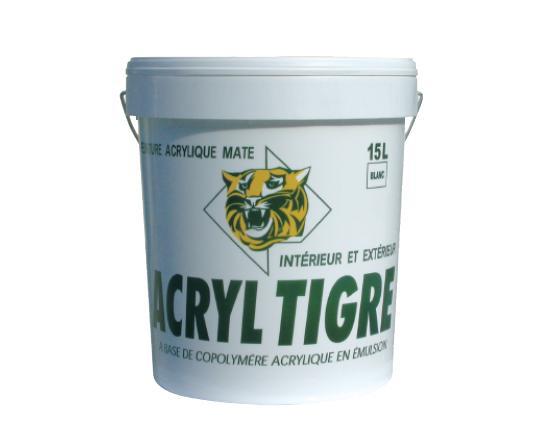 Peinture acrylique mat profond ACRYL TIGRE blanc 4L